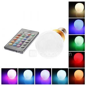 Ampoule Globe (RGB/Couleurs changeantes , Radio Télécommandé) - Sol - 5 W- E26/E27 AC 85-265