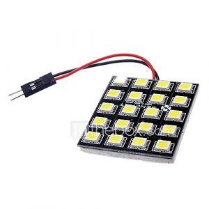T10 BA9S feston G4 10W 20x5050SMD 700-800LM 6000-6500K LED blanche directeur / lampe de lecture (12V DC)