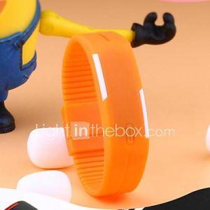 Montre de Sport Plastique (LED/Ecran Tactile/Calendrier/Résistant à l'eau) Numérique Homme
