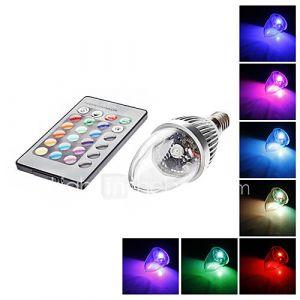 Ampoules Bougies (RGB/Couleurs changeantes , Radio Télécommandé) - C - 3 W- E14 AC 85-265
