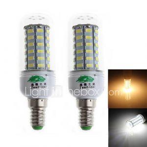 2 pièces Zweihnder E14 9 W 56 X SMD 5730 800 LM 3000/6000 K Blanc chaud/Blanc froid C Décoratif Ampoules Epis de Maïs AC 100-240 V