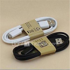 1m USB Sync câble de charge et S4 et autres téléphones portables de Samsung Galaxy S (couleurs assorties)