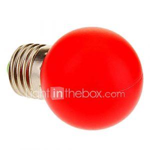 Ampoule Globe (Rouge 1 W- E26/E27 40 lm- AC 100-240
