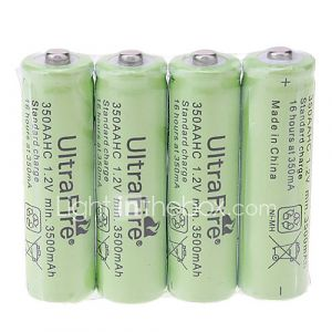 Piles AA UltraFire Rechargeables (3500mAh - 4 Pièces)