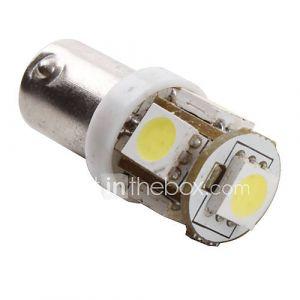Ampoule LED Blanche de Voiture (DC 12V), BA9S 1W 5x5050 SMD - 2 Ampoules