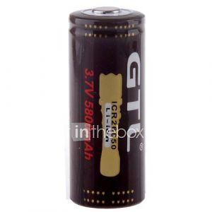 Haute Capacité 5800mAh 3.7V rechargeable au lithium-ion 26650 pour lampe de poche LED