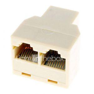 RJ45 de 1 à 2 LAN Network Cable Y Splitter Extender plug