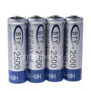 Bie 2500mAh Ni-MH rechargeables piles AA (4-pack)