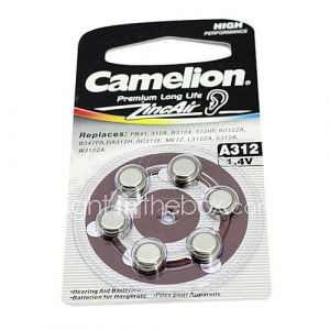 6pcs caméléon aide 1.4v a312 auditive zinc batteries d'air argent