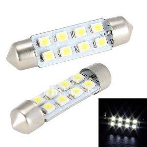 Merdia 4W 150LM feston 41MM 8x1210SMD LED White Light Bulb pour volant de voiture de lumière / lampe de lecture - (2 PCS / 12V)