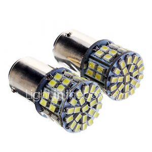 1157 5W 50x3020SMD 350LM 6000K fraîche Ampoule LED lumière blanche pour la voiture (12-24V, 2 pcs)