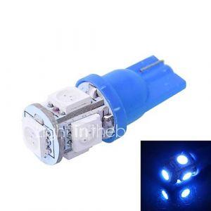 gc t10 1s 100lm 5 × 5050 SMD a mené la lumière bleu pour instrument voiture tableau de bord / porte / lampe à éclairage du coffre (12V DC)