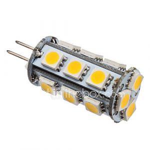 Ampoule en Epi de Maïs LED à Lumière Blanche Chaude (G4 - 2 W - 18 x 5050 SMD - 110 LM - 3000 K - 12 V)