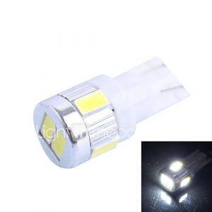 gc t10 2W 160lm 6000k 6x5630 blanc SMD LED pour la lumière voiture tour de direction (dc 12-24v)