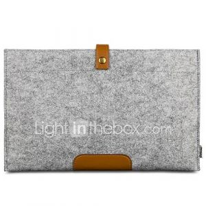 13,3 pouces oushine laine de style rétro sentait sac d'ordinateur portable manchon de protection pour MacBook Air / Pro