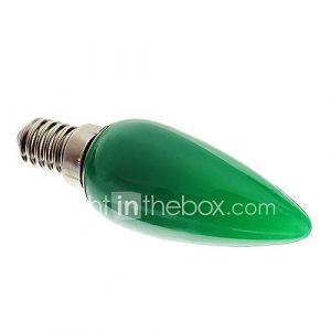 Ampoules Bougies (Vert , Décoratif) - C - 1 W- E14 70 lm- AC 100-240