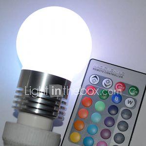 Ampoule Globe (RGB/Couleurs changeantes , Radio Télécommandé) - Sol - 5 W- E26/E27 450 lm- AC 100-240