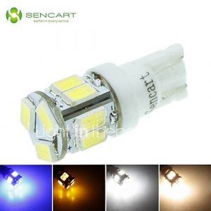 t10 W5W 5W 11x5630smd 550lm bleu // jaune chaud blanc froid / / pour la lumière de signal de voiture (dc12-16v)
