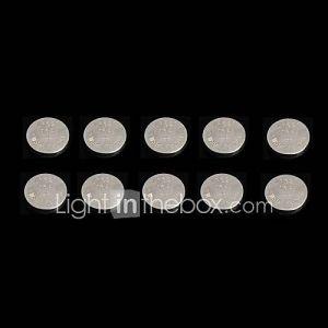 Pile bouton - AG1 / LR621 / 364 / 164 - LR (Alcaline) mAh - 1.5 - V - 10 - pcs