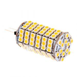 g4 7w 118x3258smd 580lm 2500-3500k lumière blanche chaude conduit ampoule de maïs (12v)