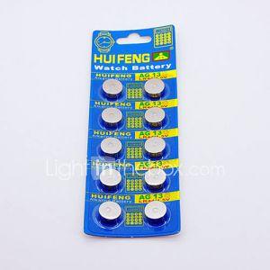 Huifeng AG13 pile bouton pour montre (10pcs)