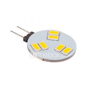 daiwl g4 3w 6x5630smd 260lm 2500-3500k ampoule blanche conduit spot chaud (12v)