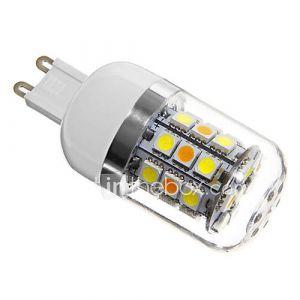 daiwl G9 4w 31xsmd 5050 280lm 4100-4600k lumière blanche naturelle ampoules LED de maïs couvercle d'argent (ca 220-240)