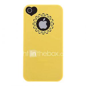 Creux Sweet Heart dur et Cercle de cas de dos  Film écran pour iPhone 4/4S (couleurs assorties)