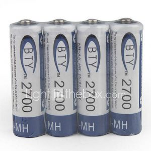 1.2v 2700mAh rechargeable AA Ni-MH rechargeable
