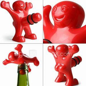 créative hommes heureux en plastique de style bouchon de bouteille 9,5  8,5  5,5 cm (3,74  3,35  2,17 pouces)