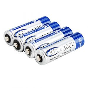 Piles Rechargeables NH-AA (1.2V - 3000mAh - Bleu)