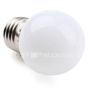 Ampoule Globe LED à Lumière Blanche Chaude (E27 - 1 W - 12 x 3528 SMD - 30 LM - 2700 K - 220 à 240 V)