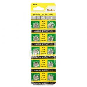 Pile bouton - AG8 / LR1120 - LR (Alcaline) mAh - 1.55 - V - 10 - pcs