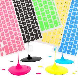coosbo française de l'UE azerty silicone peau de couverture de clavier pour 13.3 ''/15.4'' / 17 ''macbook de Mac Pro d'air / rétine