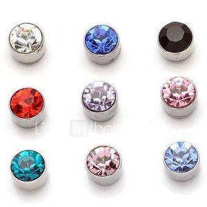 zircon aspiration magnétique boucles d'oreilles en diamant boucles d'oreille aimant pas de trou de l'oreille une paire de prix
