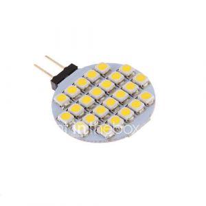 G4 3W 24x3528SMD 72LM 3000-3500K Blanc Chaud Ampoule LED pour la voiture (12V DC)