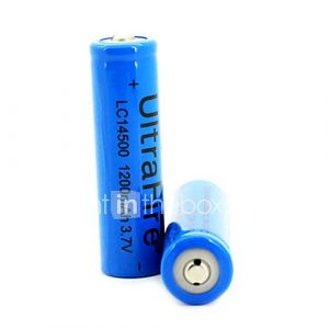 2pcs ultrafire piles rechargeables 1200mah 3.7v de 14500 - blanc ebtgp-289867