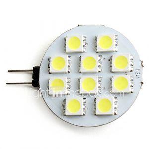 Ampoule Spot LED à Lumière Blanche Naturelle (GU4 - 2 W - 10 x 5050 SMD - 80 LM - 5500 K - 12 V)