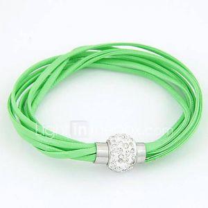 bracelet en cuir bracelet corticale lumineuse multicouche
