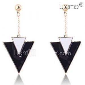 luremevintage triangle géométrique émail boucles d'oreilles