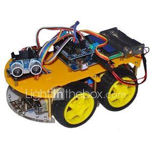 bluetooth kits voiture robot contrôlées pour Arduino (avec 2,6 affichage ''1602 lcd)
