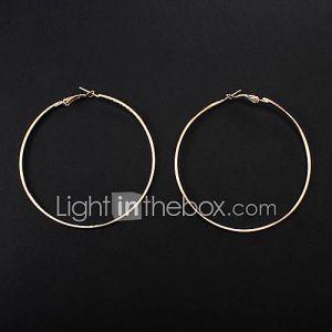 Alliage européen couleurs assorties Boucles d'oreilles (Silver, Gold) (1 paire)