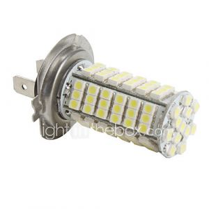 Ampoule LED Blanche de Voiture (DC 12V), H7 3528 SMD 102-LED