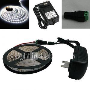 5M 300X3528 cms Blanc lumière de bande menée et connecteur et AC110-240V à Dc12V3A Transformer