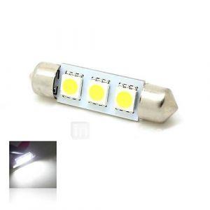39mm 1W 3x5050 SMD LED 50lm 6000K Blanc Lumières de dôme de feston Carte de plaque minéralogique d'ampoule de lampe pour la voiture (12V DC)