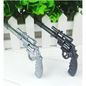 fraîche renouvelable stylo à la conception de pistolet à bille (couleur aléatoire, 2 pcs)