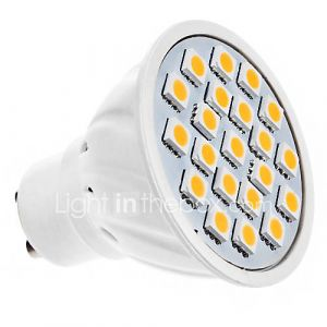 daiwl GU10 5W 20x5050smd 320lm lumière blanche chaude conduit ampoule spot (220v)