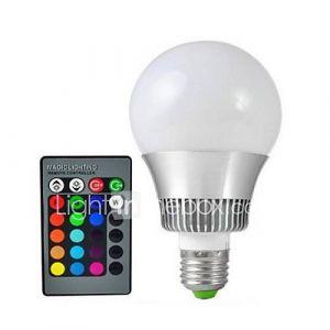 Ampoule Globe (Couleurs changeantes , Radio Télécommandé 15 W- E26/E27 72 lm- AC 100-240 V- 1 pièces