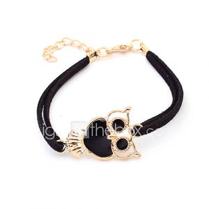 Double Row Owl Bracelet (couleurs assorties)