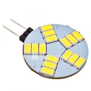 daiwl g4 4w 15x5630smd 320-350lm 6000-6500k lumière blanche naturelle conduit ampoule spot (12v ac)